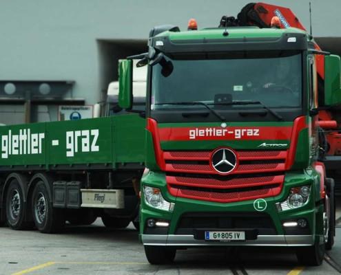 Mercedes Actros Glettler Transporte